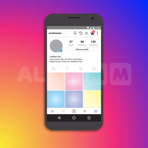How to issue a profile on Instagram. Efficient algorithm